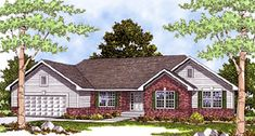 House Plan 99174 | Bungalow   Ranch    Plan with 1859 Sq. Ft., 3 Bedrooms, 3 Bathrooms, 3 Car Garage