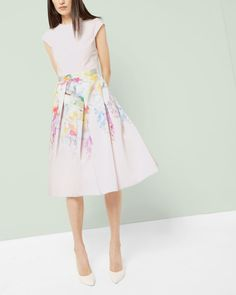 Hanging Gardens skirt dress - Nude Pink   Dresses   Ted Baker