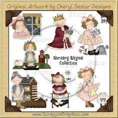 Nursery Rhyme Clip Art Graphics Collection