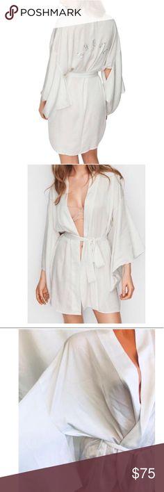 6915aba4390 My Posh Closet · Dream Angels Satin Swarovski Kimono Robe
