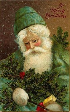 Free graphic ~ Santa in green