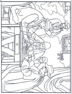 Cezanne Card Players Coloring Page