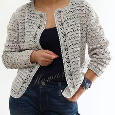Fantastic Cardigan Crochet Pattern Ideas and images - Page 19 of 47 - crochet patterns, crochet patterns free, crochet patterns for beginners, knitting patterns, free crochet patterns Crochet Cardigan Pattern, Crochet Jacket, Crochet Blouse, Knit Bag, Pull Crochet, Free Crochet, Knit Crochet, Crochet Patterns For Beginners, Knitting Patterns