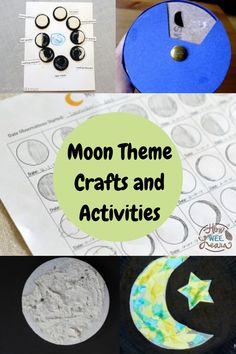 Learning about the moon is so cool! This FREE moon theme includes lots of different crafts and activities all about the moon for kids to make and do. Lots of crafts and hands on science demonstrations. Educational Activities For Preschoolers, Moon Activities, Preschool Activities, Arts And Crafts Projects, Science Projects, Moon For Kids, Science Demonstrations, Space Theme, Sensory Play