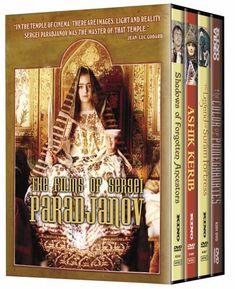 The Films of Sergei Paradjanov (Shadows of Forgotten Ancestors/The Color of Pomegranates/The Legend of Suram Fortress/Ashik Kerib) (Four-Disc Edition) Kino International http://www.amazon.com/dp/B000WS6YAA/ref=cm_sw_r_pi_dp_PASovb1VYHQKX
