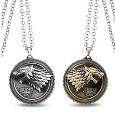 Cheap game of thrones house, Buy Quality game of thrones directly from China game of Suppliers: MS JEWELS Lots Game of Thrones House Stark Metal Necklace Charm Pendant Cosplay Jewelry Gift Accessories Pendant Jewelry, Pendant Necklace, Necklace Charm, Game Of Thrones Necklace, Game Of Thrones Merchandise, Jewelry Gifts, Jewelry Accessories, Game Of Thrones Winter, Funny Memes