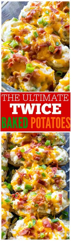 The Ultimate Twice Baked Potatoes - you can go wrong with this side dish. the-girl-who-ate-everything.com