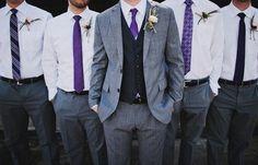 grey and purple ties @Alex Jones Jones West i like the variations