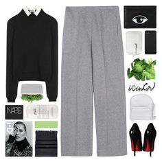 """""""Helga"""" by clairdelun-e ❤ liked on Polyvore featuring Jil Sander, Haider Ackermann, Essentiel, Christian Louboutin, Mossimo, Incase, Jil Sander Navy, Acne Studios, NARS Cosmetics and philosophy"""