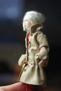 Tarun nuket - Miniature dolls by Taru Astikainen Miniature Dolls, Fur Coat, Miniatures, Jackets, Fashion, Down Jackets, Moda, Fur Coats, Mini Things