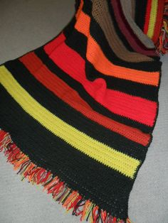 Vintage Afghan/Blanket/Throw Crocheted Multi Color by KathiJanes, $16.95