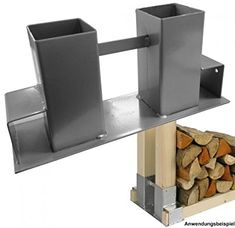 Stapelhilfe Holz Holzstapelhalter Kaminholzhalter Brennholz Kaminholzregal: Amazon.de: Garten