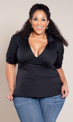plus size plus size top at www.curvaliciousclothes.com I. LOVE. THIS.