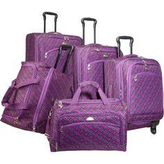 American Flyer Plaid Collection 5 Piece Luggage Set (Purple) American Flyer,http://www.amazon.com/dp/B00AZMR9PW/ref=cm_sw_r_pi_dp_PSnWrb77762B42BA