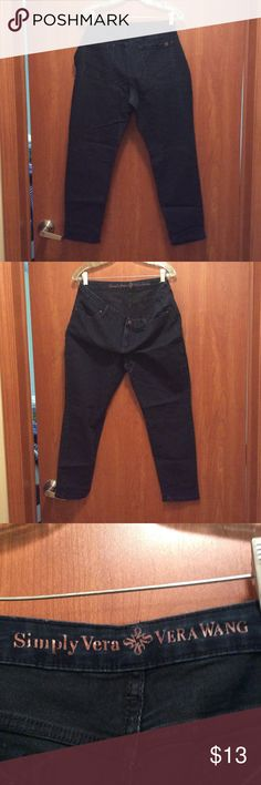 Simply Vera Vera Wang Skinny Ankle jeans.  Size 16 Very dark blue Simply Vera by Vera Wang jeans.  Size 16.  Smoke-free, bird-friendly home. EUC Simply Vera Vera Wang Jeans Skinny
