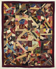 "Crazy Quilt Ladies Aid Society of the Methodist Episcopal Church, Filley, Nebraska 1893 86"" x 69"""