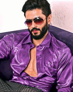 Men Dress Up, Silk Shirts, Satin Shirt, 2 Colours, Mens Sunglasses, Guys, Blouse, Clothing, Model