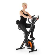 Azura Air Heimtrainer Velo Fitness, Sport Fitness, Cardio Bike, Gym Equipment, Orange, Lcd, Unique, Assemblage, Workouts
