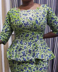 latest ankara skirt and blouse skirt and blouse style for wedding,latest ankara short skirt and blouse styles 2018 African Dresses For Kids, African Fashion Ankara, African Fashion Designers, Latest African Fashion Dresses, African Dresses For Women, African Print Dresses, African Attire, Ankara Skirt And Blouse, Ankara Dress Styles