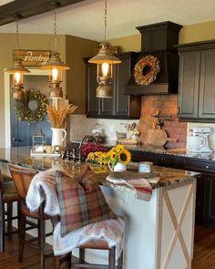Diy Rustic Decor, Rustic Farmhouse Decor, Farmhouse Kitchen Decor, Rustic House Decor, Home Decor, Modern Farmhouse Kitchens, Home Kitchens, Dream Kitchens, Fall Inspiration