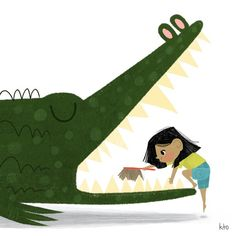 A is for Alligator When brushing an alligator's teeth, make sure to get the ones way in the back! Your alligator will be very thankful you… Crocodile Illustration, Frog Illustration, Illustration Sketches, Illustration Artists, Art Illustrations, Alligator Birthday, Cat Light, Shops, Alphabet Print