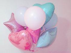 Image via We Heart It https://weheartit.com/entry/24227324/via/27151673 #balloon #cute #kawaii #pastel #pink #star ##