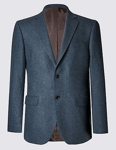 9faec51ae6f Pure Cashmere 2 Button Semi Plain Jacket with Buttonsafe™