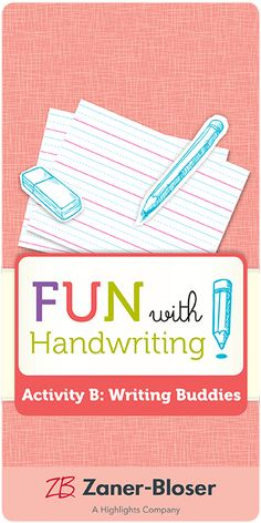 Step-by-step directions for creating a fun reading and writing partnership in your classroom. Promote collaboration, sharing, and literacy skills. Zaner Bloser Handwriting, Handwriting Activities, Literacy Skills, Collaboration, Classroom, Layout, Reading, Fun, Class Room