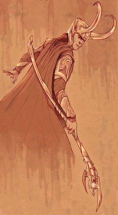 Loki Sketch by PencilWarrior.deviantart.com on @deviantART