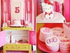 Hello Kitty 5th Birthday Tea Party Theme Pink Girl Fifth