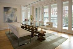 Einmaliges Esszimmer mit neuen Stühlen - Einmaliges Esszimmer mit neuen Stühlen couch leder gepolstert glastischplatte