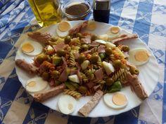 Ensalada de pasta con salsa vinagreta de mostaza Una ensalada ideal para…