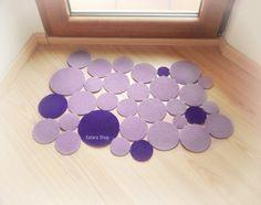 Intruders dots. Modern floor mat. Decorative doormat. Choose the colors
