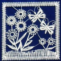 Needle Lace, Bobbin Lace, Lace Heart, Lace Jewelry, Lace Making, Textiles, Lace Detail, Projects To Try, Butterfly