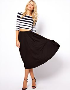 midi skirt- love this lenght!!!