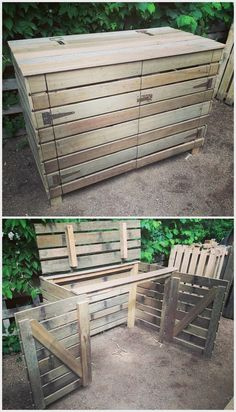 Recycled Pallets Ideas pallets made Garbage Storage Project - Old wood pallets are not of any use, it is believed by many people out there; but it is not true. They are usable after.