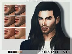 The Sims Resource: Beard N01 by FashionRoyaltySims • Sims 4 Downloads
