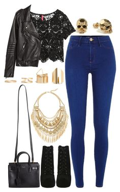 A fashion look from September 2015 featuring crop tops, leather jackets and River Island. Browse and shop related looks. Edgy Outfits, Grunge Outfits, Cool Outfits, Fashion Outfits, Womens Fashion, Fashion Trends, Everyday Outfits, Everyday Fashion, Might Night