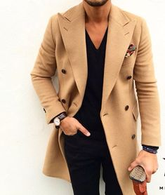 Black with camel coat. Perfect combination