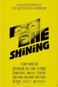The Shining - one sheet poster - restrike - USA - Stanley Kubrick - Jack Nicholson - Saul Bass design Affiche The Shining, The Shining Film, The Shining Poster, Horror Movie Posters, Classic Movie Posters, Horror Movies, Cinema Posters, Classic Movies, Design Graphique