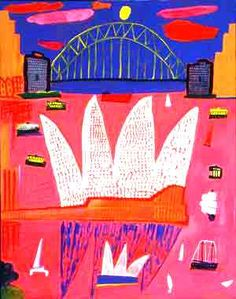 Ken Done painting of Sydney Harbour Bridge and Sydney Opera House Kendo, Australian Painting, Australian Artists, Australian Icons, Classe D'art, National Art, Teaching Art, Teaching Ideas, Art Classroom