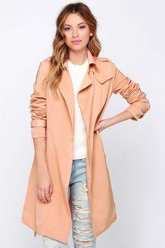 SoHo to Speak Blush Trench Coat