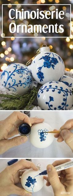 DIY Chinoiserie Ornaments.