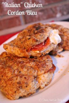 pepperoni mozzarella stuffed chicken  make low carb substitutions for flour andbread crumbs