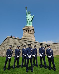 Statue of Liberty with the Air Force Honor Guard by busidophoto