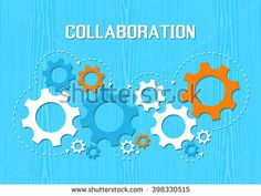 Collaboration Concept. Technical of gears