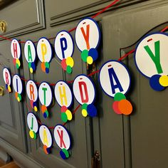 LET'S HAVE a BALL Birthday Banner Ball Theme Birthday, Bouncy Ball Birthday, Colorful Birthday Party, Ball Birthday Parties, Monster Birthday Parties, Boy Birthday, Birthday Ideas, Colorful Party, Pool Party Decorations