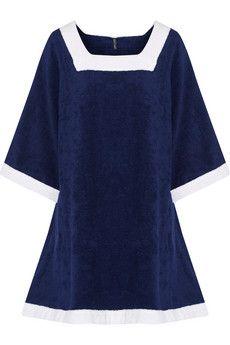 Lisa Marie Fernandez Sailor cotton-terry mini dress | THE OUTNET