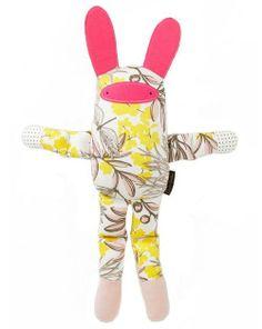 | ThisDwellStudio Bunny Multi Stuffed Animal is astylish stuffed bunny that your little one will love |