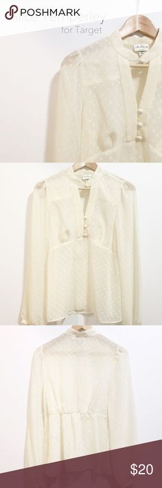 Alice Temperley [for Target] blouse Brand new with tags attached, Alice Temperley for Target blouse with button detail. // Size Medium. --- No trading, but you are welcome to make me a reasonable offer! ALICE by Temperley Tops Blouses